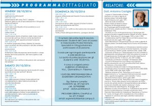 Brochure Evento Palermo 28-29-30 Ottobre